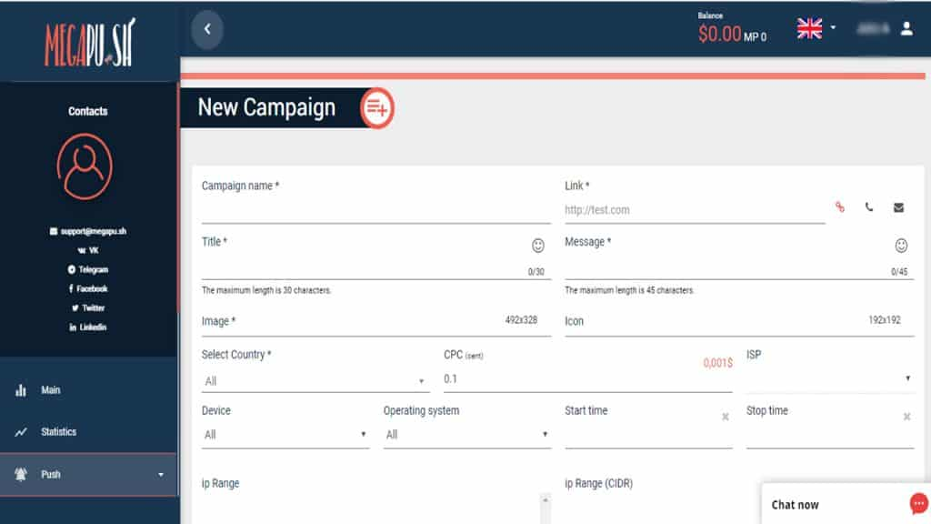 MegaPush Review - How to Create a Campaign