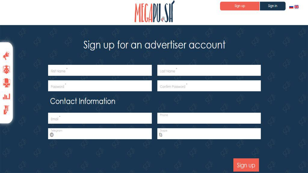 MegaPush Review - How to Signup
